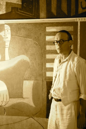 Vincent Perez as Le Corbusier sepia