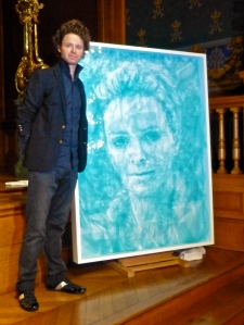 Benjamin Shine by his portrait of HSH Princess Charlene