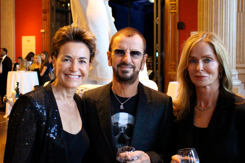 Celina with Ringo Starr and Barbara Bach