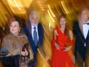 Marta Ormelas, Placido Domingo, Eugenie and Jean-Louis Grinda
